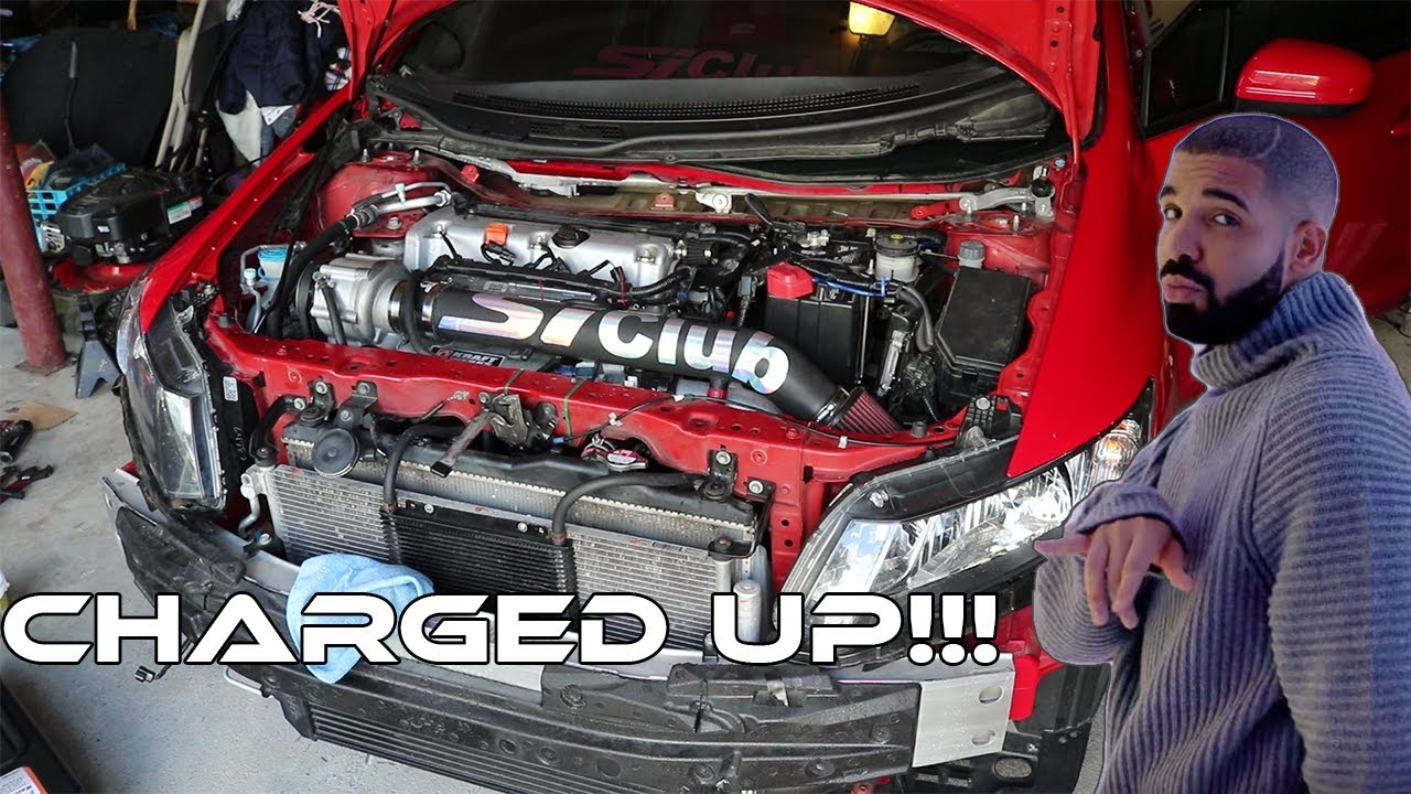 Kraftwerks Supercharger Install 9th Gen Civic Si