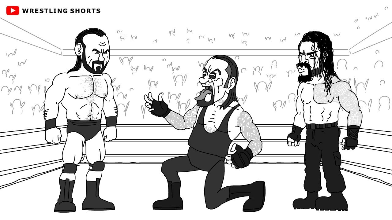 Roman Reigns vs Drew McIntyre WWE Survivor Series Parody Cartoon (feat. The Undertaker)