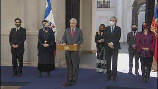 Presidente Piñera anuncia bono de 500 mil pesos para clase media