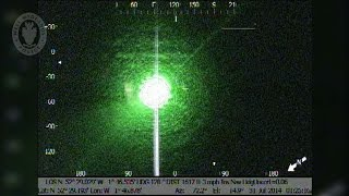 Police helicopter tracks down laser pen party lout