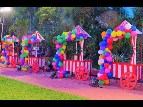 Carnival Themed Decor - Behind the scenes