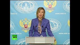 Мария Захарова проводит еженедельный брифинг (30 ноября 2016)