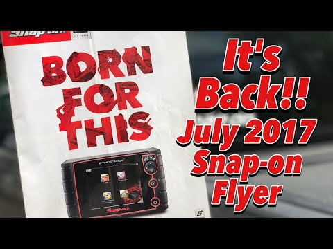 July 2017 Snap-on Tools Flyer - IT'S BACK!!