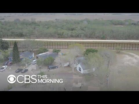 Trump's proposed border wall dividing Texans
