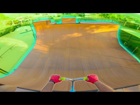 TESTING ULTIMATE VERT RAMP ON SCOOTER!