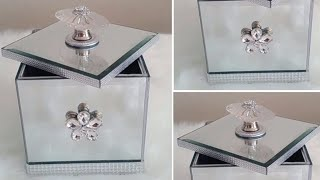 DIY| THE 99 CENT STORE MIRRORED BLING AND GLAM STORAGE BOX