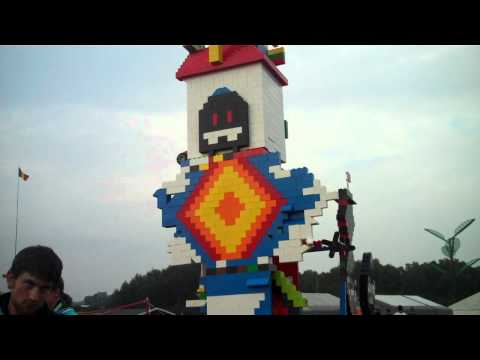 Lego tower at the jamboree