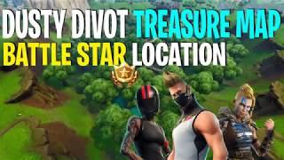 Fortnite: Battle Royale Dusty Divot Treasure Map Battle Star Location
