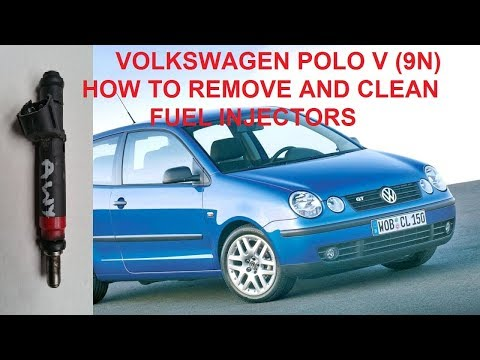 VW POLO V (9N) How to remove and clean fuel injectors