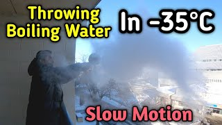 Throwing Boiling Water iฑto Freezing Air | Winter in Saskatchewan Canada