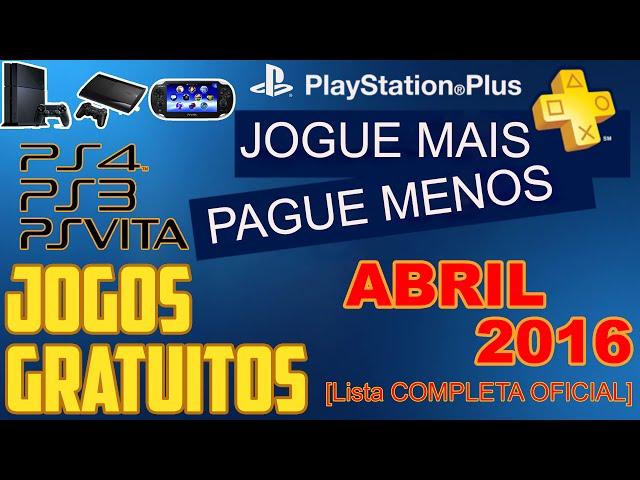 Psn Plus Jogos Grátis Para Abril De 2016 [ Lista Oficial ]