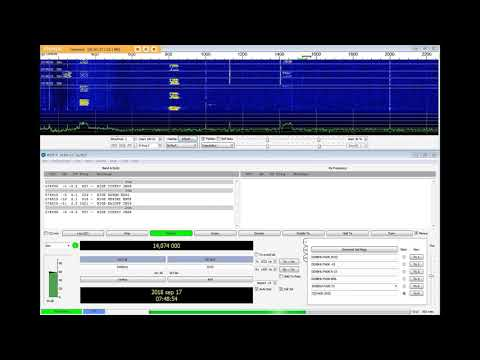 FT8 on WSPR frequency 20m - YouTube