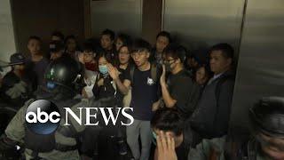 Hundreds arrested after violent Hong Kong protests | ABC News