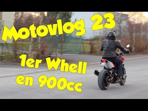 MOTO VLOG#23 1ERE SESSION WHEELIES EN NUDA 900R
