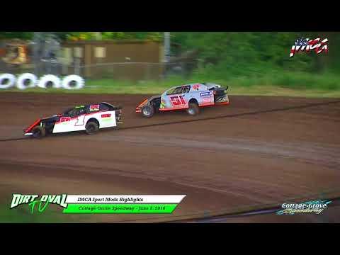 6 2 18 IMCA Sport Mods Highlights Cottage Grove Speedway