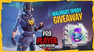 [WALMART SPRAY GIVEAWAYS] || V-bucks Giveaway @1k || Fortnite Battle Royale