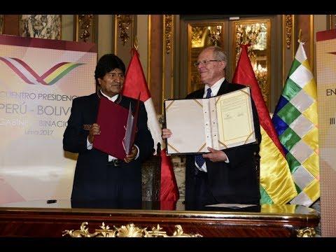 Presidentes de Perú y Bolivia suscribieron acuerdos en Declaración de Lima