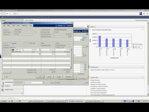 Vendors, Payables Invoices, and Checks in Dynamics GP