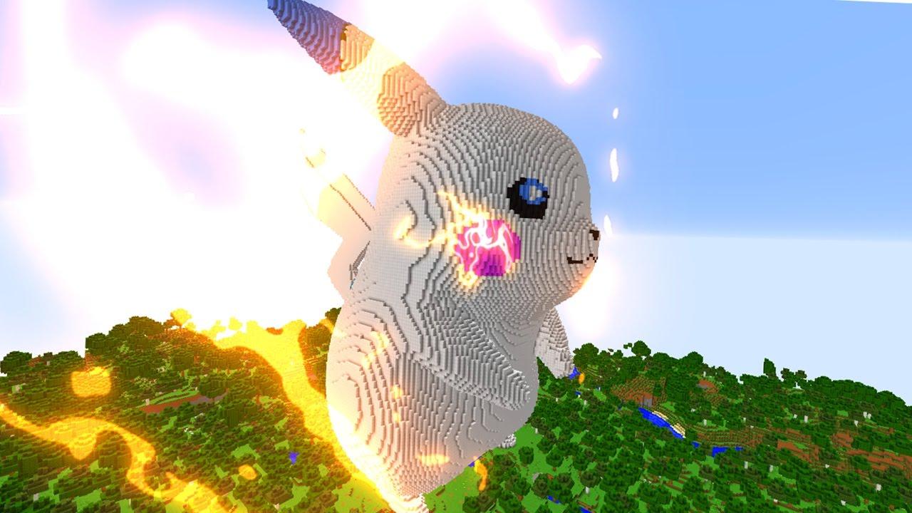 Minecraft Vs Pokemon Go Giga Pikachu Shiny Vs Rezende Youtube