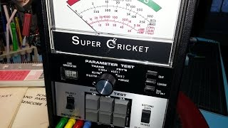 Sencore TF30 Super Cricket transistor/FET tester demonstration video