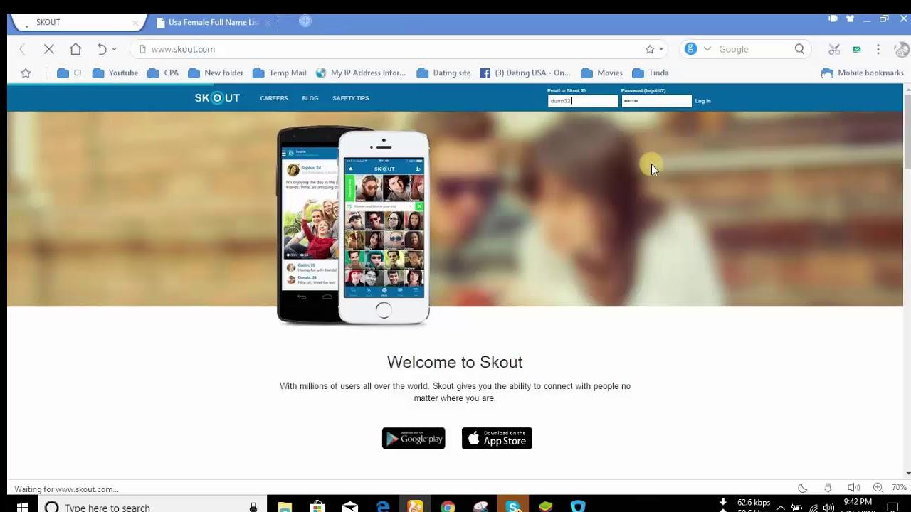 Skout com login with facebook