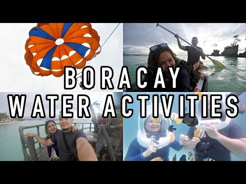 BORACAY DAY 2: WATER ACTIVIES! Parasailing, Helmet Diving, Paddle Boarding | VLOG
