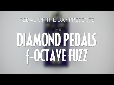 Diamond Pedals F-Octave Octave Fuzz Guitar Bass Effects Pedal Demo Video
