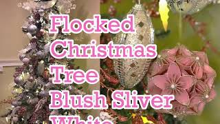 Flocked Christmas Tree || Blush || Sliver || White