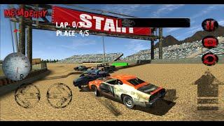 Mega Derby Racing Гонки на выживание в духе Flatout Обзор Review