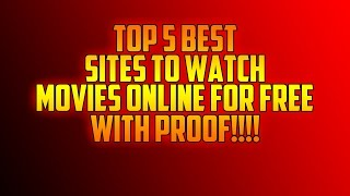 TOP 5 BEST SITES TO WATCH MOVIES ONLINE FOR FREE (NO SIGN UP)