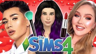 Getting A Makeover From Beauty Gurus!! | The Sims 4: YouTuber World