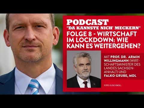 """Podcast """"Da kannste nich´ meckern..."""" - Folge 8 - Wirtschaft im Lockdown: Wie kann es weitergehen?"""
