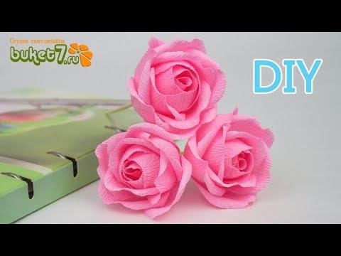 Цветы из гофрированной бумаги без конфет своими руками пошаговое фото