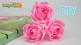 Пышная роза из бумаги ☆ Сделай сам красивые цветы Своими Руками ☆ Розы из бумаги без конфет ☆ Diy