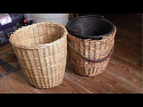 Как сделать корзины для белья. How to make laundry baskets.