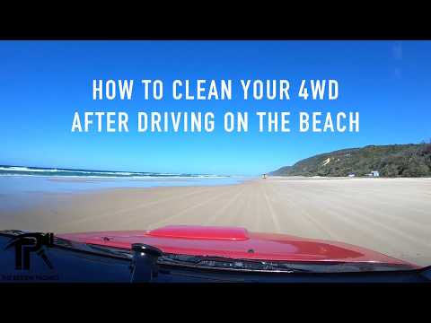 How to clean a 4WD after driving on the beach