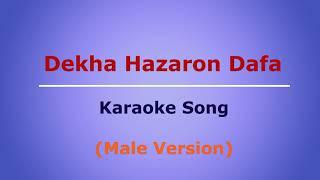 Hindi Karaoke Song    Dekha Hazaro Dafa (Male Version)    Rustom   Arijit Singh
