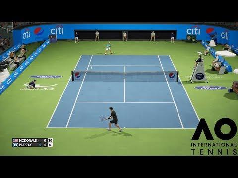 Mackenzie McDonald vs Andy Murray - AO International Tennis - PS4 Gameplay