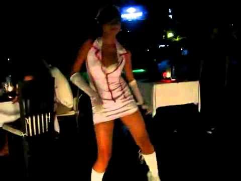 Amnesi Dancer - Hot sexy nurse dancing at Ocean Beach Kuta Bali.AVI