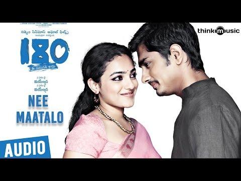 180 Songs - Telugu | Nee Maatalo Song | Siddharth, Priya Anand, Nithya Menen | Sharreth