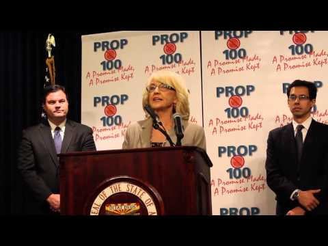 Prop 100 Sales Tax Expiration - Gov. Brewer Press Conference