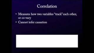 Intro. to Statistics for the Social Sciences - On Correlation