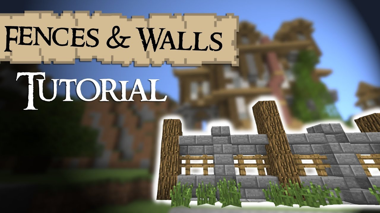 Minecraft tutorial medieval fences and walls youtube minecraft tutorial medieval fences and walls workwithnaturefo