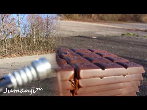 EXPERIMENT - Glühendes Metall Messer gegen Schokolade
