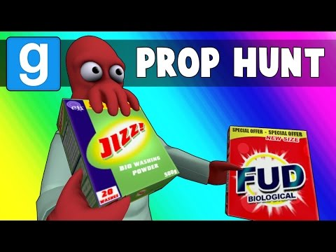 Gmod Prop Hunt Funny Moments - Death By Jizz! (Garry's Mod)