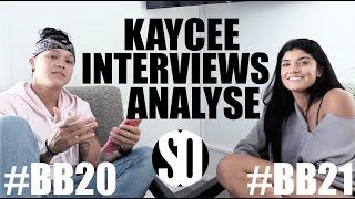Big Brother - Kaycee Interviews Analyse Talavera