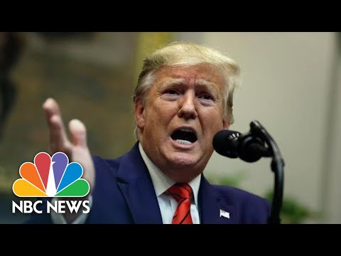 President Donald Trump On Biden's Call For Impeachment: 'His Campaign Is Sinking' | NBC News