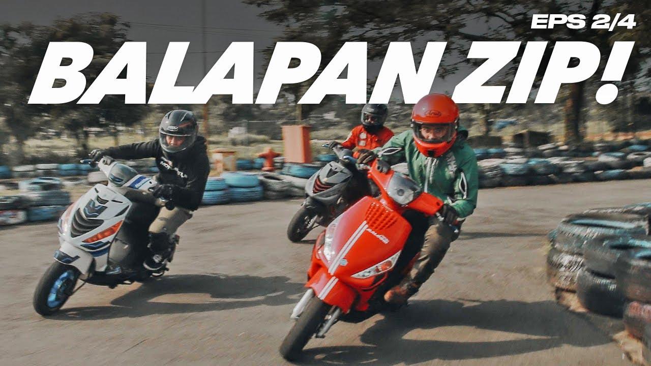 BALAPAN PIAGGIO ZIP DI SIRKUIT ! - MotoBattle Zip Battle (2/4)