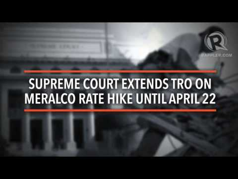 SC extends TRO on Meralco rate hike