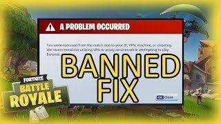 Fortnite unbanned only working method (iP Bans & System)